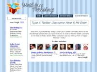 BirthdayTweetings.Com Website Screenshot