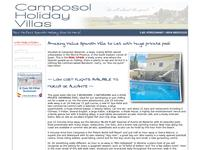 CamposolHolidayVillas.Com Website Screenshot