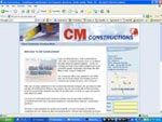 CM Constructions Website Screenshot