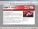 DontPanicAlarms.Com Website Screenshot