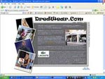 DreadWear Website Screenshot