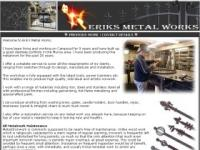 Eriks Metal Work Website Screenshot