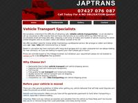 JapTrans.Co.Uk Website Screenshot